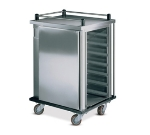 "Dinex DXPSC10 Single Enclosed Tray Delivery Cart w/ (10) 13 X 21"" Tray Capacity"