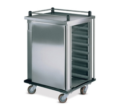 Dinex DXICT12 Single Enclosed Tray Delivery Cart w/ 12 Tray Capacity, Pull Door