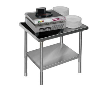 "Dinex DXICTABLE 30.5"" Stationary Table w/ Open Base for Power-Therm Induction Charger"