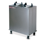 "Dinex DXIDPH2E0912 9-1/8"" Enclosed Heated Plate Dispenser w/ 50 Plate Or 36 Bowl Capacity"