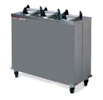 "Dinex DXIDPH3E1012 10-1/8"" Mobile Enclosed Heated Plate Dispenser w/ 3-Tube Frame"