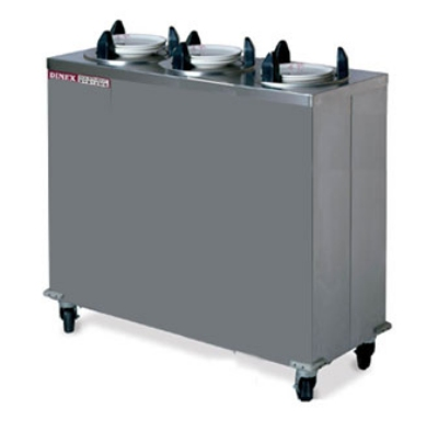 "Dinex DXIDP3E0912 9-1/8"" Enclosed Plate Dispenser w/ 150 Plate Or 107 Bowl Capacity"