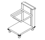 Dinex DXIDRC2020 Mobile Cantilever Rack Dispenser w/ Lifting Mechanism, For 20 x 20-in
