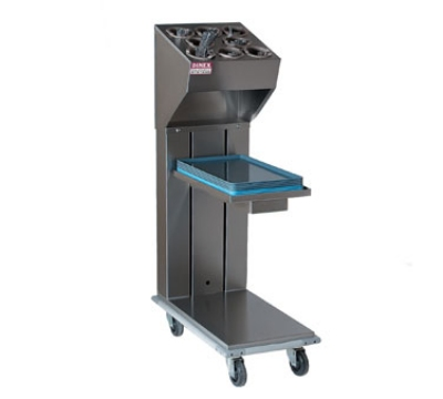 Dinex DXIDTS1C1418 Cantilever Single Tray & Silverware Dispenser w/ 10-Cylinder, 14 x 18-in