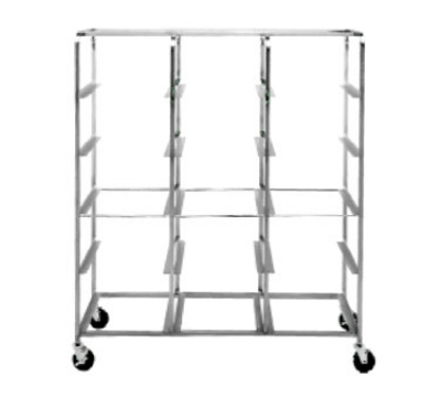 "Dinex DXIRDSD9150 Dome Storage Cart w/ Welded Tray Slides, 150 Capacity for 9"" Covers"