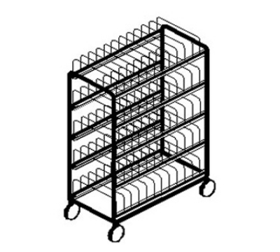 Dinex DXIRDSH300 Drying & Storage Rack w/ 300-Hotel Pan Capacity, 10-Cradles