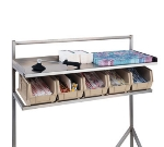 "Dinex DXISSS72 72"" Straddle Style Starter Station w/ 8-Bins & Dividers"