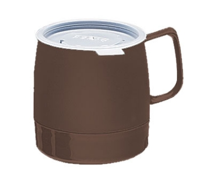 Dinex DX119769 8-oz Classic Insulated Stackable Mug, Chocolate