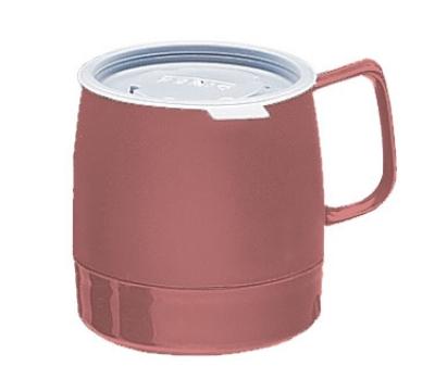Dinex DX119756 8-oz Classic Insulated Stackable Mug, Mauve