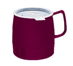 Dinex DX119761 8-oz Classic Insulated Stackable Mug, Cranberry