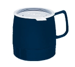 Dinex DX119750 8-oz Classic Insulated Stackable Mug, Midnight Blue