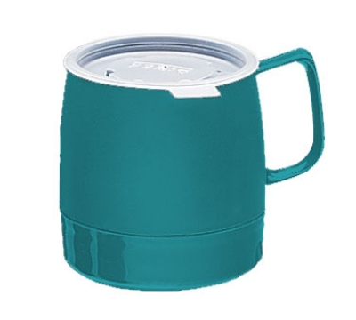 Dinex DX119715 8-oz Classic Insulated Stackable Mug, Teal