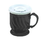 Dinex DX300003 8-oz Turnbury Insulated Pedestal Base Cup, Black