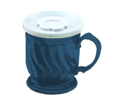 Dinex DX300050 8-oz Turnbury Insulated Pedestal Base Cup, Midnight Blue