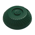 "Dinex DX340008 Turnbury Insulated Dome for 9"" Plates -  Hunter Green"