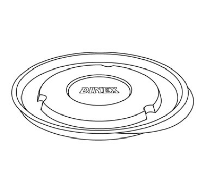 Dinex DX43008700 Heritage Clear-View Flat Lid, Fits 4300 Bowl