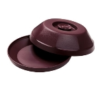 "Dinex DX440061 Heritage Insulated Dome for 9"" Plates - Cranberry"