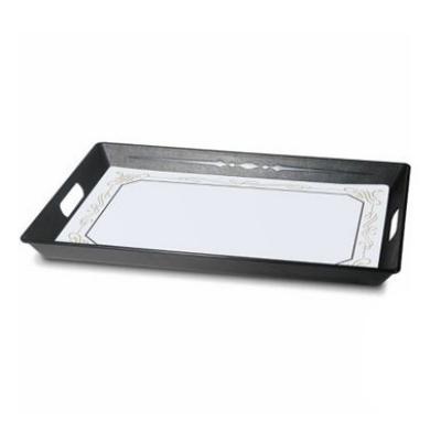 Dinex DX1089RS03 Polypropylene Room Service Tray, 21.5 x 15.5 x 1.5-in, Black