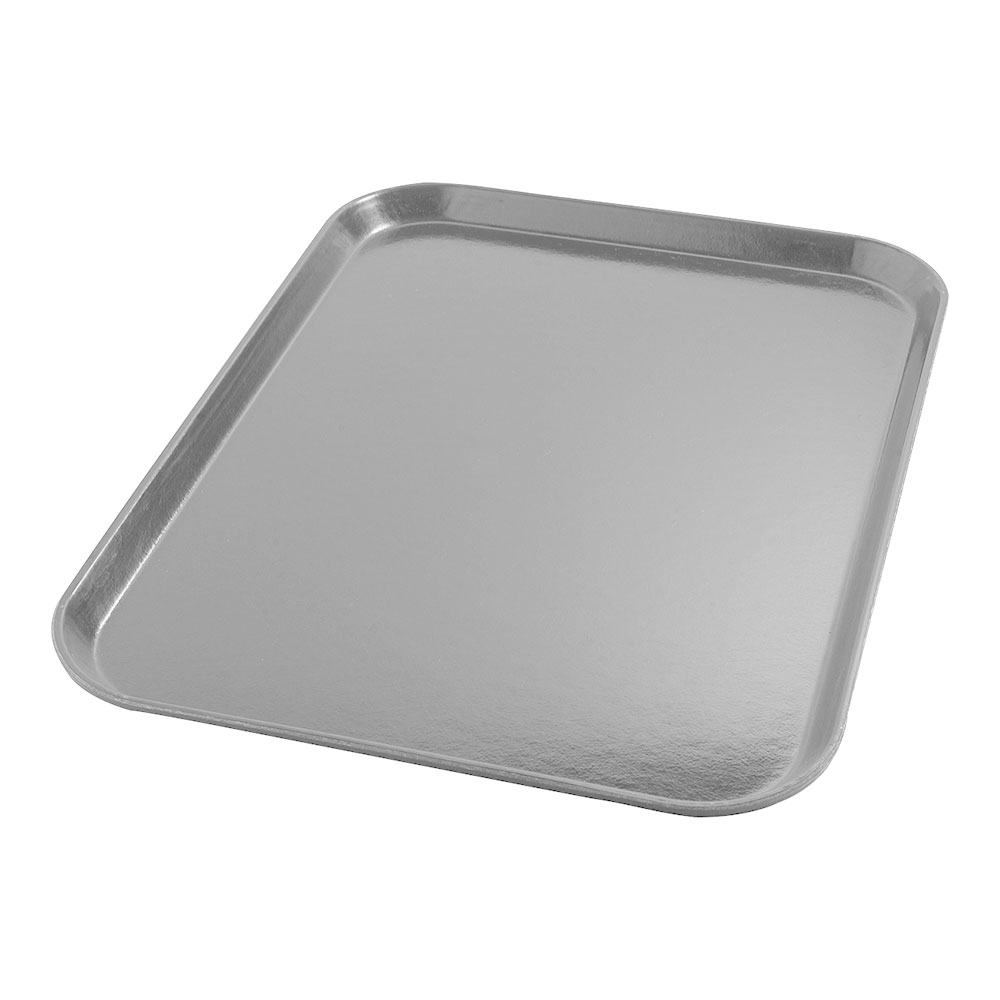 "Dinex DX1089I23 Fiberglass Flat Meal Delivery Tray, 14 x 18"", Gray"