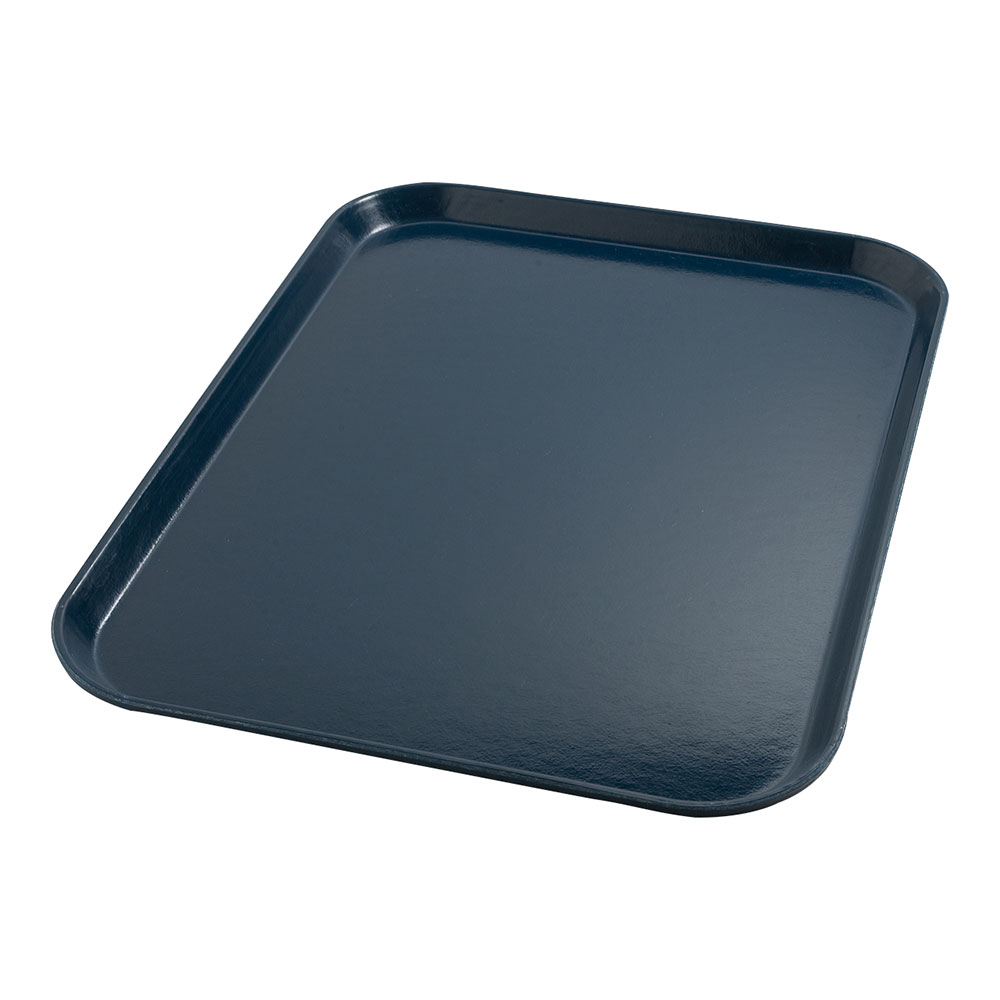 "Dinex DX1089I50 Fiberglass Flat Meal Delivery Tray, 14 x 18"", Midnight Blue"