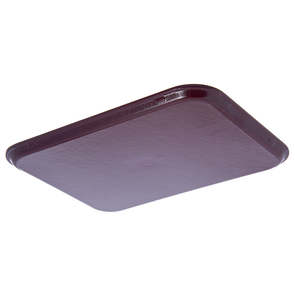 """Dinex DX1089M61 Fiberglass Flat Meal Delivery Tray, 15 x 20"""", Cranberry"""