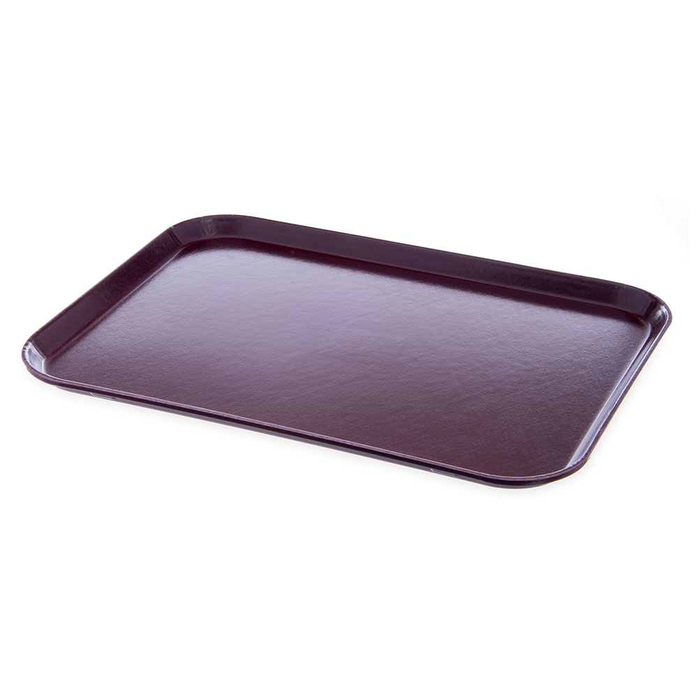 "Dinex DX1089M61 Fiberglass Flat Meal Delivery Tray, 15 x 20"", Cranberry"