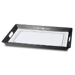 Dinex DX1089RS152003 Polypropylene Room Service Tray, 20 x 15.5 x 2-in, Black