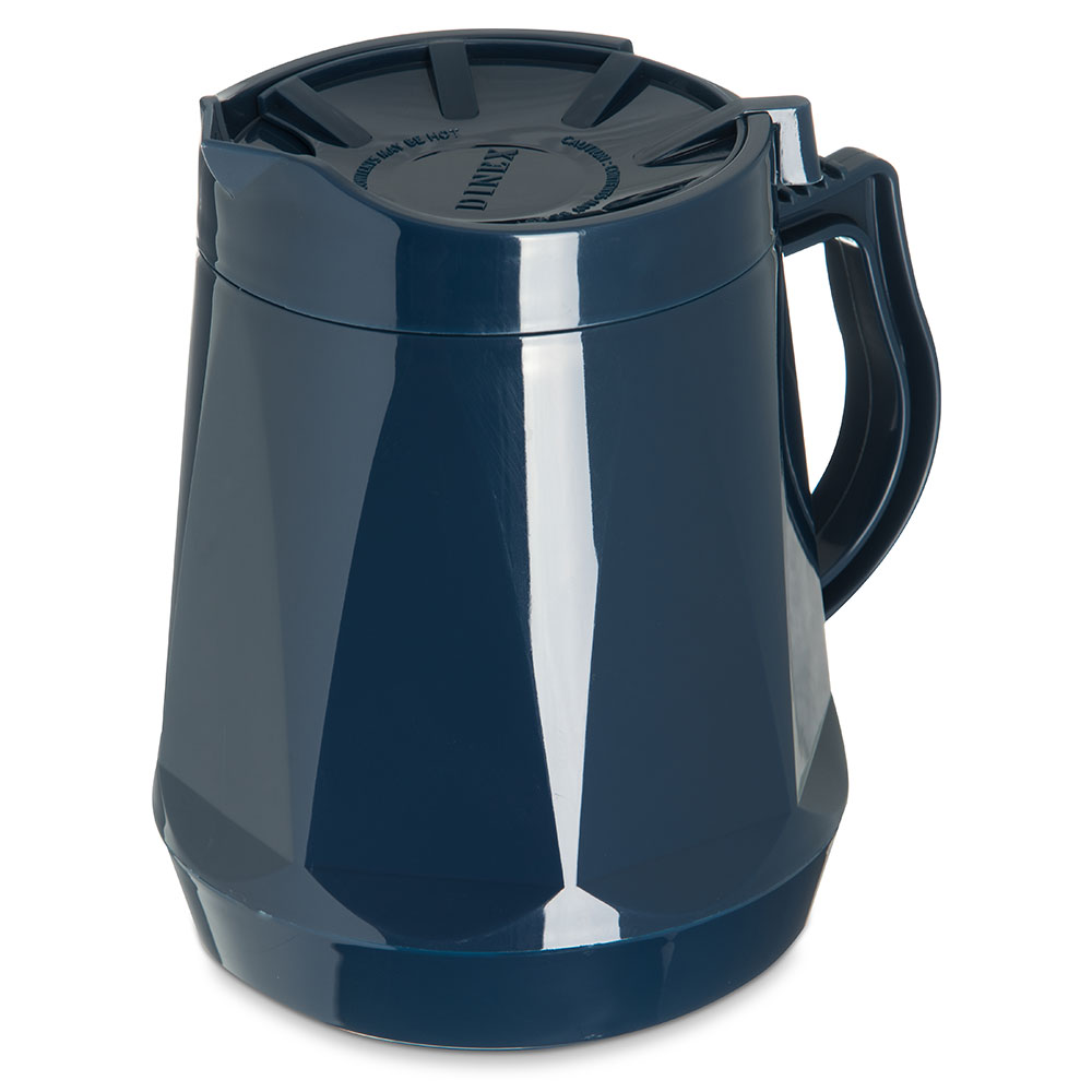 Dinex DX1150-50 Insulated Beverage Server w/ Snap on Lid, 1/2-Liter, Midnight Blue