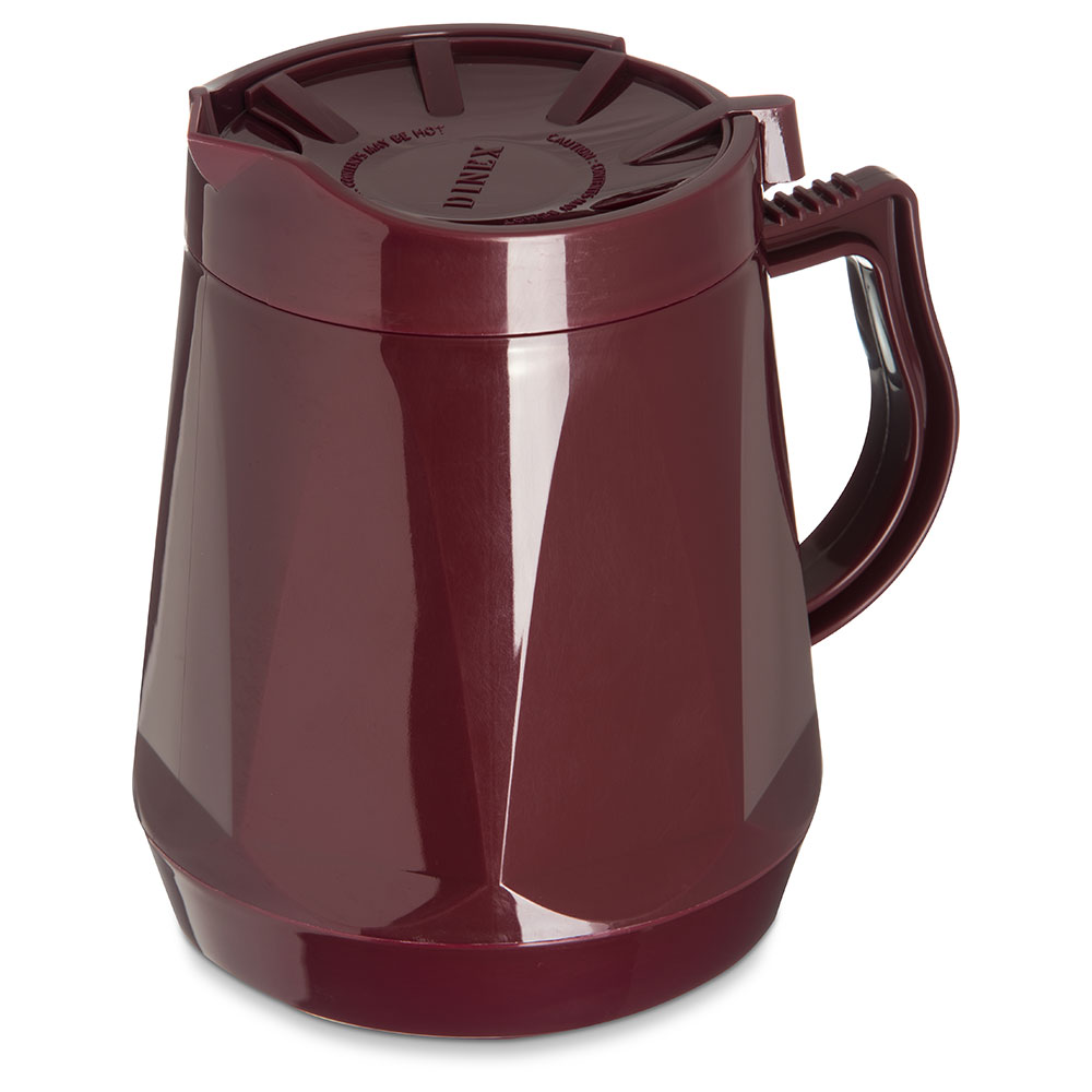 Dinex DX1150-61 Insulated Beverage Server w/ Snap on Lid, 1/2-Liter, Cranberry