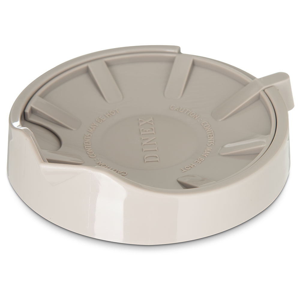 Dinex DX1156-31 Beverage Server Replacement Lid, Snap On, Insulated, Latte