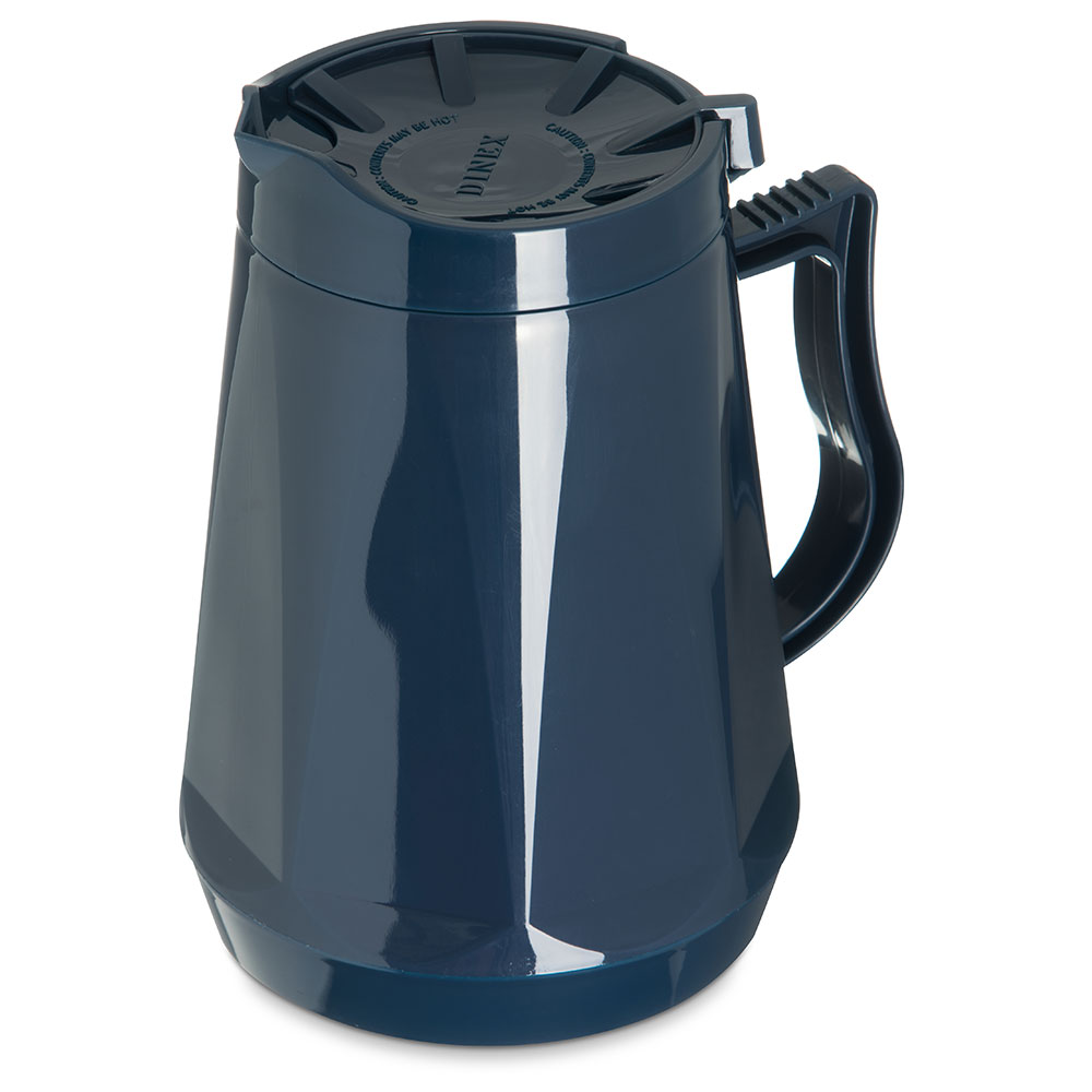 Dinex DX1160-50 Insulated Beverage Server w/ Snap on Lid, 1-Liter, Midnight Blue