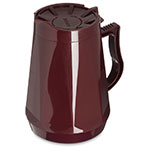 Dinex DX1160-61 Insulated Beverage Server w/ Snap on Lid, 1-Liter, Cranberry