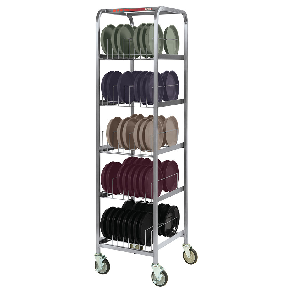 Dinex DX1173X80 5-Level Mobile Drying Rack for Dishes