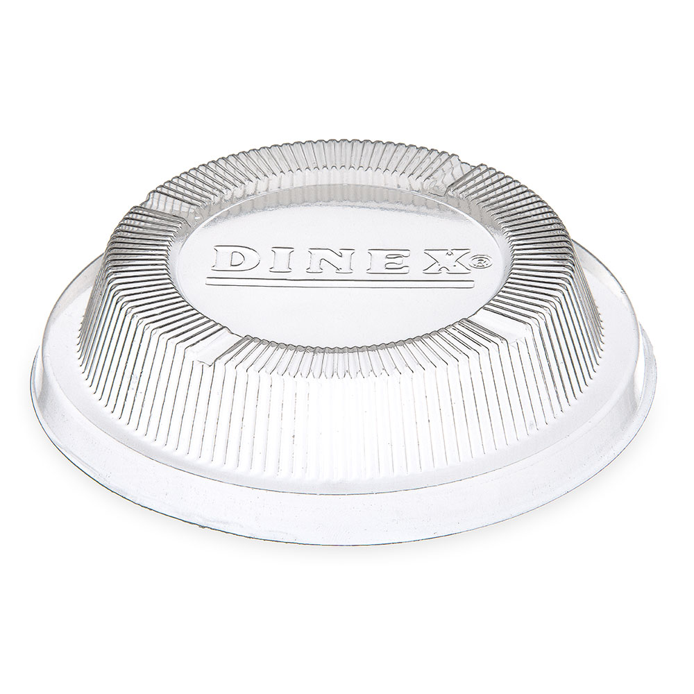 Dinex DX11830174 Disposable Dome Lid for 3300 & 1187, Polystyrene, Clear