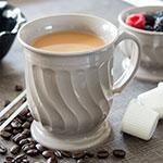 Dinex DX300031 8-oz Turnbury Insulated Pedestal Base Cup, Latte