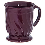 Dinex DX300061 8-oz Turnbury Insulated Pedestal Base Cup, Cranberry