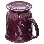 Dinex DX300061 8-oz Turnbury Insulated Pedestal Base Cup, Cranberry
