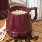 Dinex DX400061 8-oz Heritage Insulated Stackable Mug, Cranberry