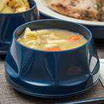 Dinex DX430050 9-oz Heritage Insulated Stackable Bowl, Midnight Blue