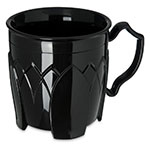 Dinex DX5000-03 Insulated 8-oz Mug w/ Sculpture Design, Onyx