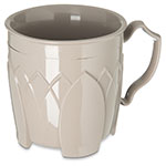 Dinex DX5000-31 Insulated 8-oz Mug w/ Sculpture Design, Latte
