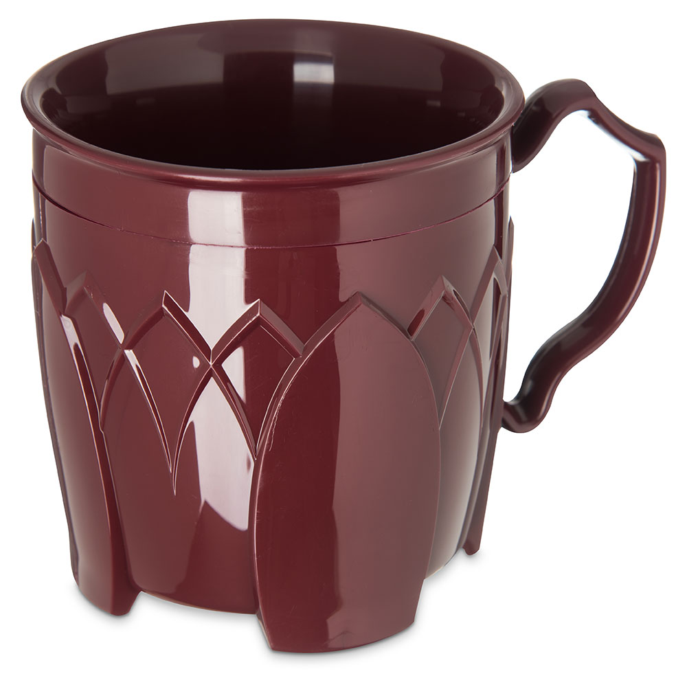 Dinex DX5000-61 Insulated 8-oz Mug w/ Sculpture Design, Cranberry