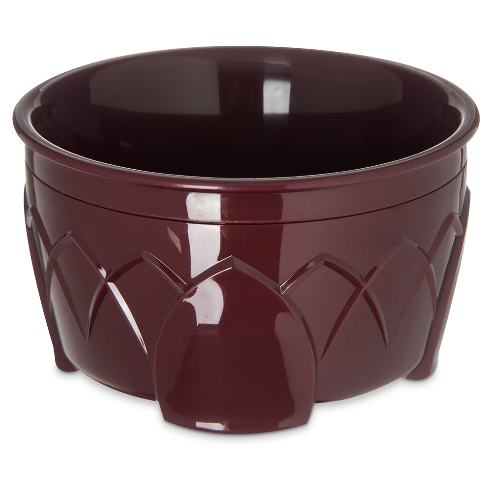 Dinex DX5300-61 Insulated 9-oz Bowl w/ Sculpture Design, Cranberry