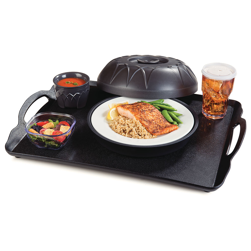 """Dinex DX5400-03 Fenwick Insulated Dome for 9"""" Plates - Onyx"""