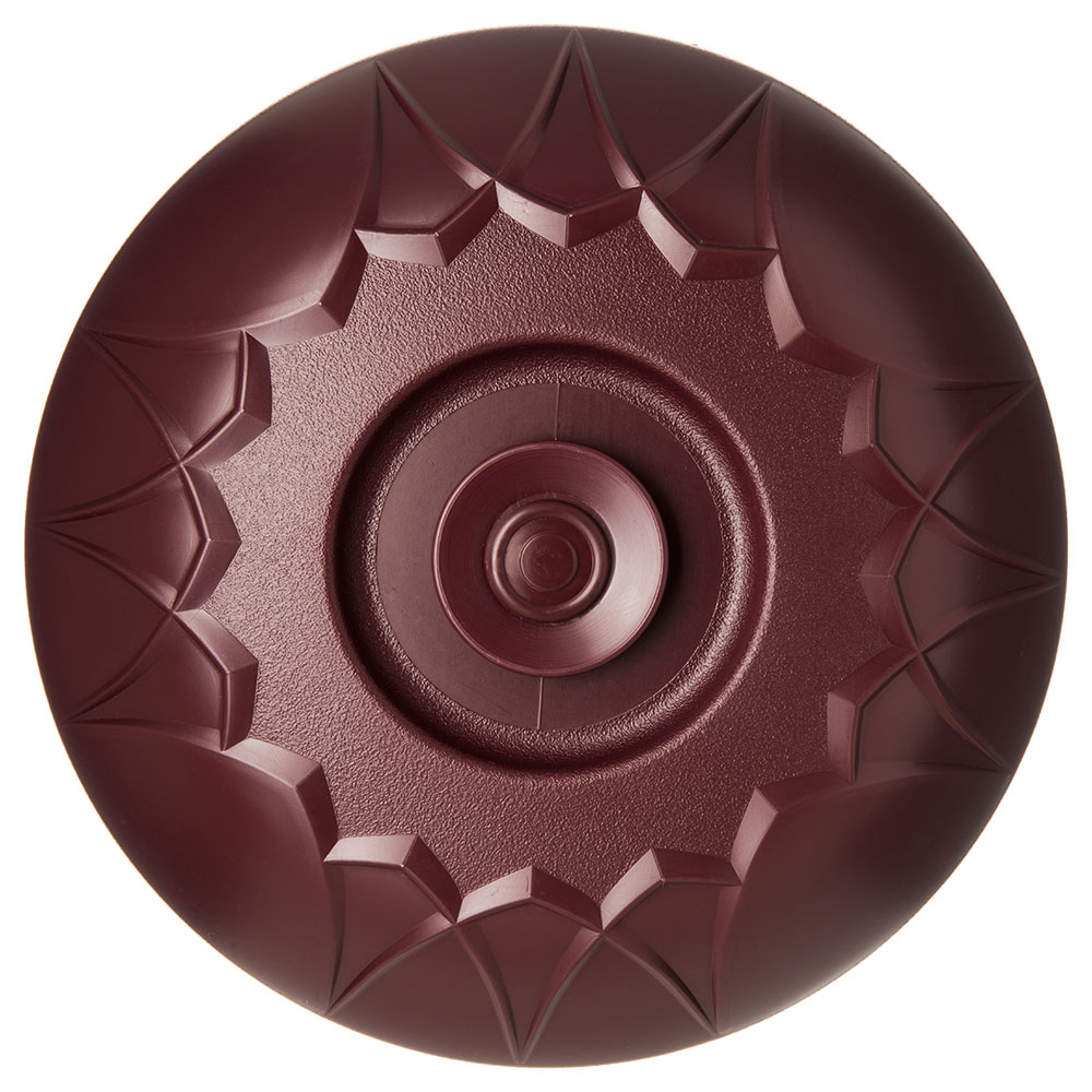 "Dinex DX5400-61 Fenwick Insulated Dome for 9"" Plates - Cranberry"