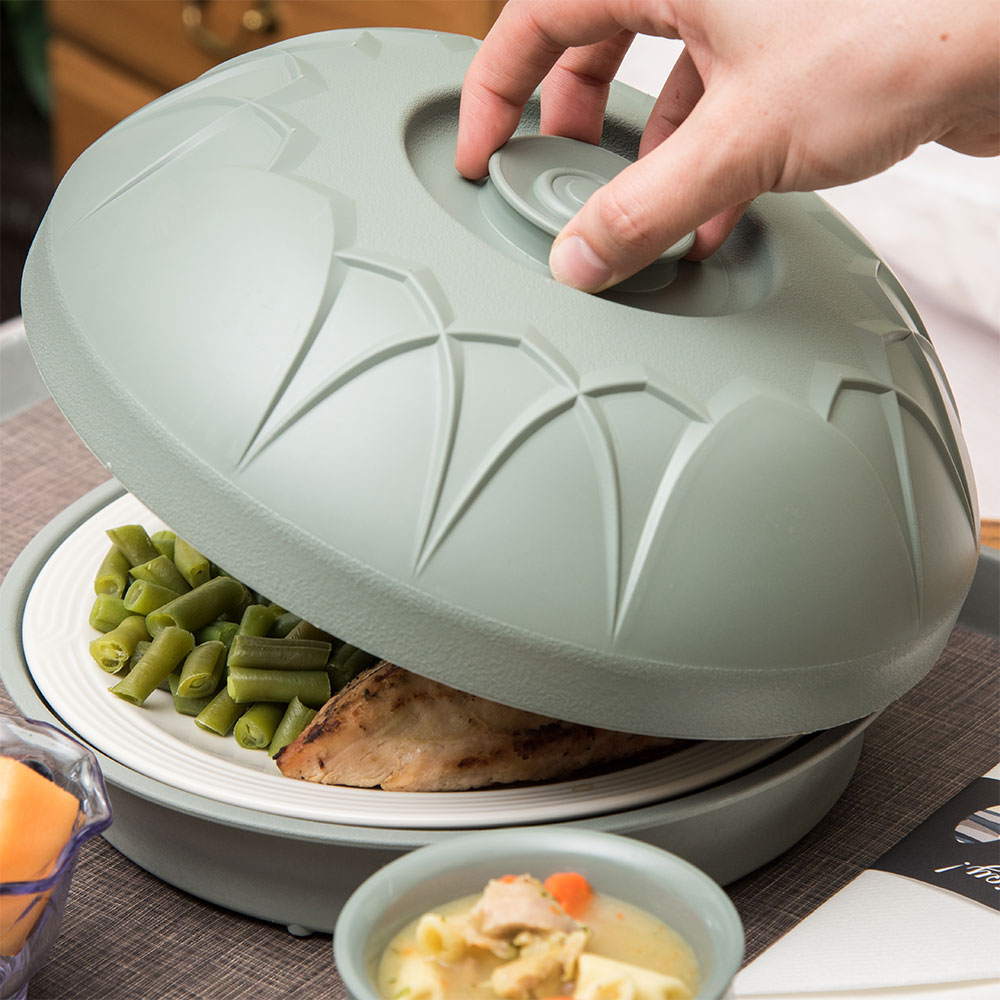 "Dinex DX5400-84 Fenwick Insulated Dome for 9"" Plates - Sage"