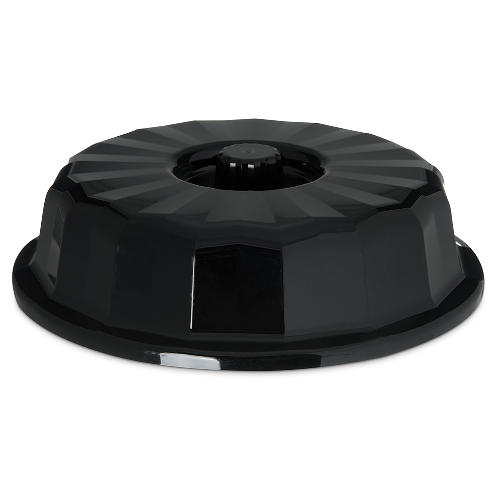 "Dinex DX9407B03 7"" Tropez Convection Thermalization Entree Dome w/ High Heat Resin, Onyx"