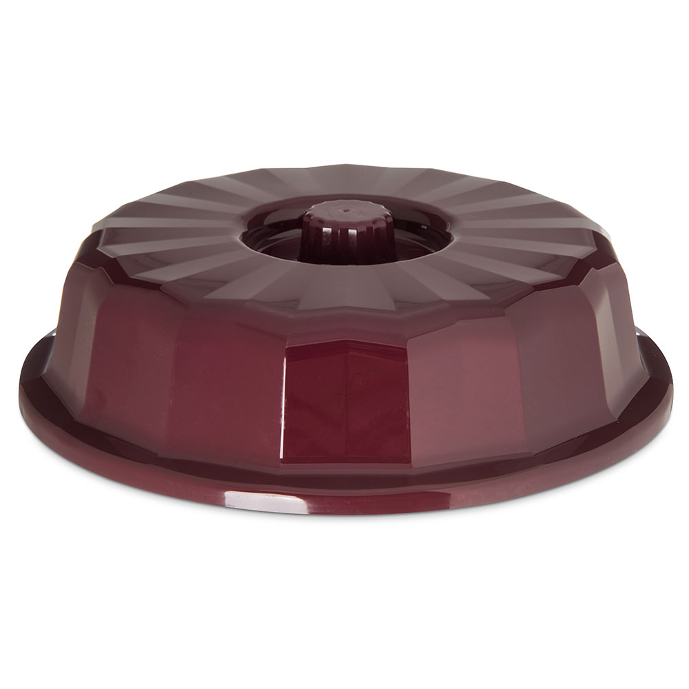 "Dinex DX9407B61 7"" Tropez Convection Entree Dome w/ High Heat Resin, Cranberry"