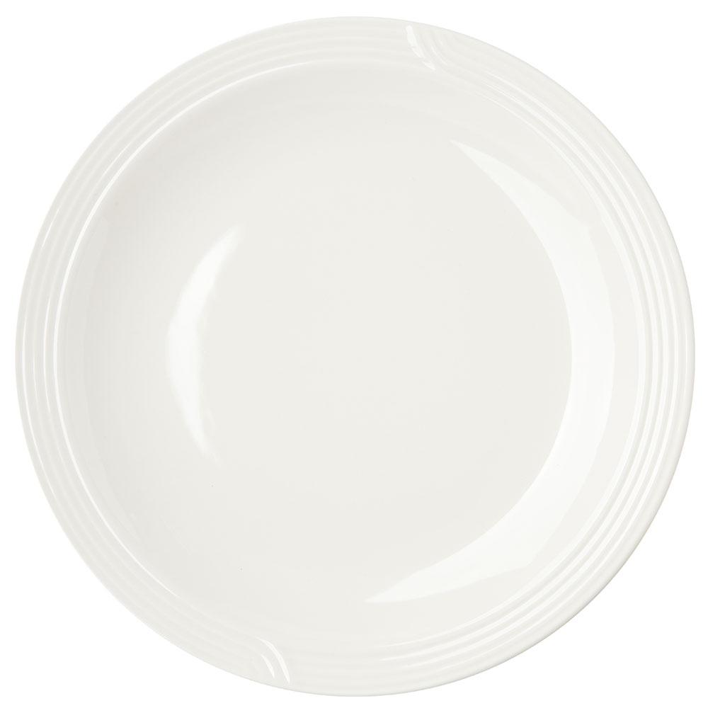 "Dinex DX9CP02 9"" Embossed Dinner Plate, Ivory"