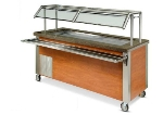 "Dinex DXDCF6 91"" Refrigerated Cold Food Counter for (6) 12 x 20 x 5"", 120 V"